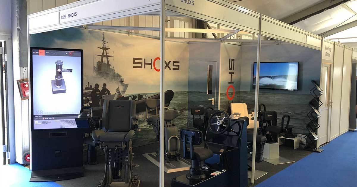 SHOXS Showcases New X4 Shock Mitigating Pedestal at Seawork 2018