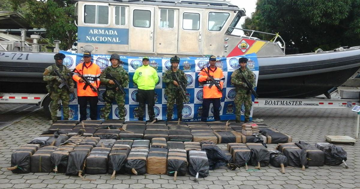 Colombian Armada Nacional Bust Nets 1,123 Kilos of Cocaine