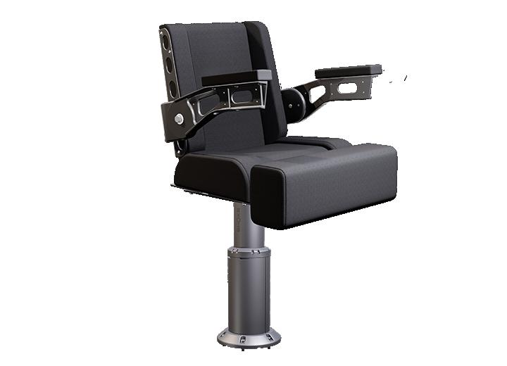 3700x8 shock absorbing helm seat gray