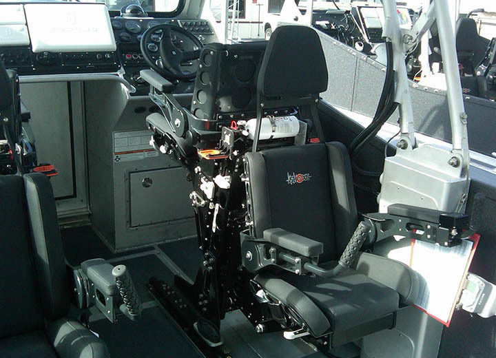 Shoxs 6100 Mounted To A Shoxs 4800 Helm Seat