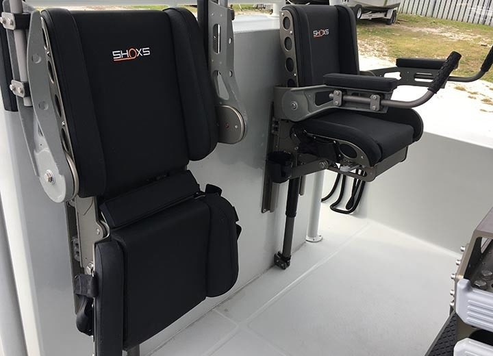 Shoxs 6300 Stowed And Deployed Bulkhead Suspension Seat