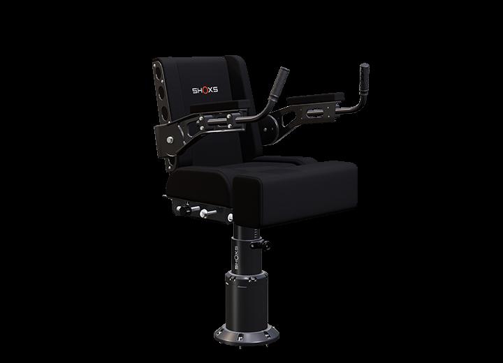 SHOXS 3700-X4 shock mitigating marine seat with swivel