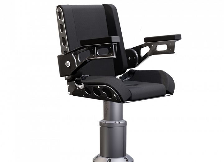 Shoxs 3200 x4 boat suspension seat gray
