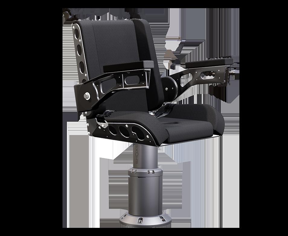 Shoxs 3200 x4 boat suspension seat gray