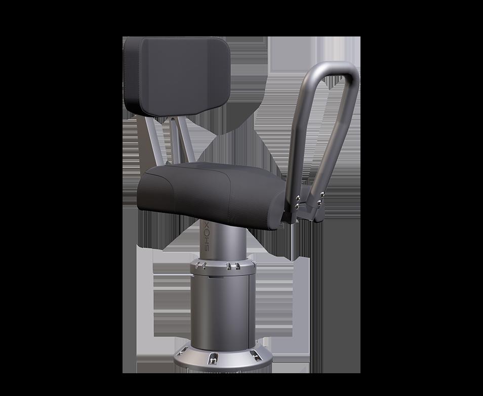 Shoxs 3900 x4 boat jockey suspension seat gray