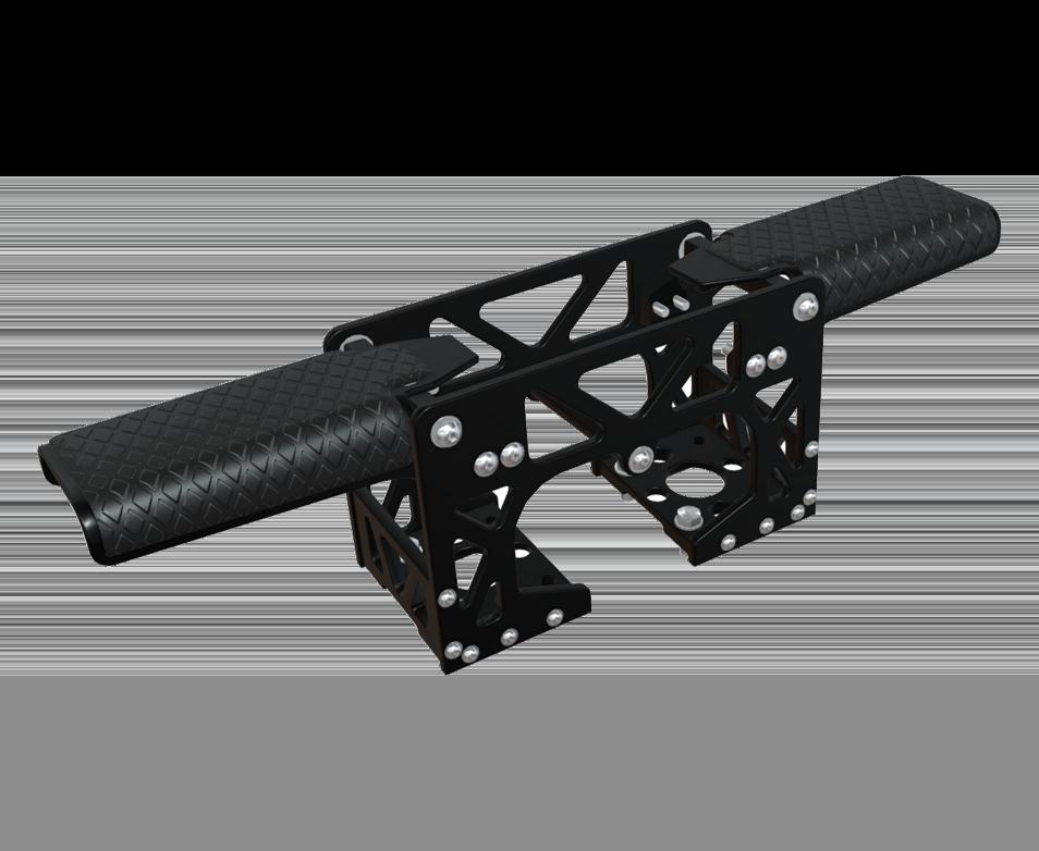 Shoxs Folding Deckmount Footrest Black 954X782